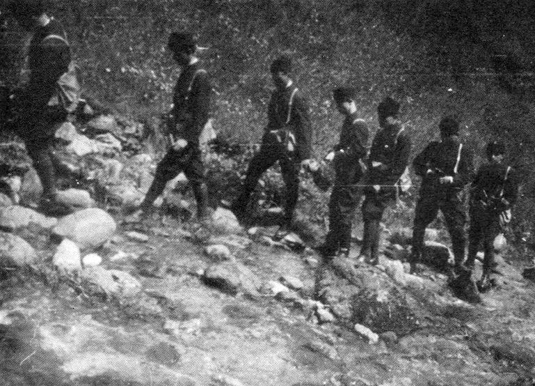 усташки војници на обуци у једном од бројних кампова
