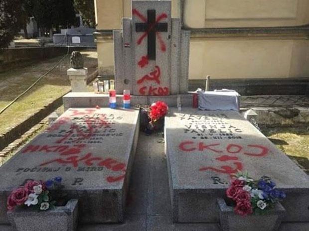 Оскрнављен гроб породице Павелић на приватном гробљу у Мадриду