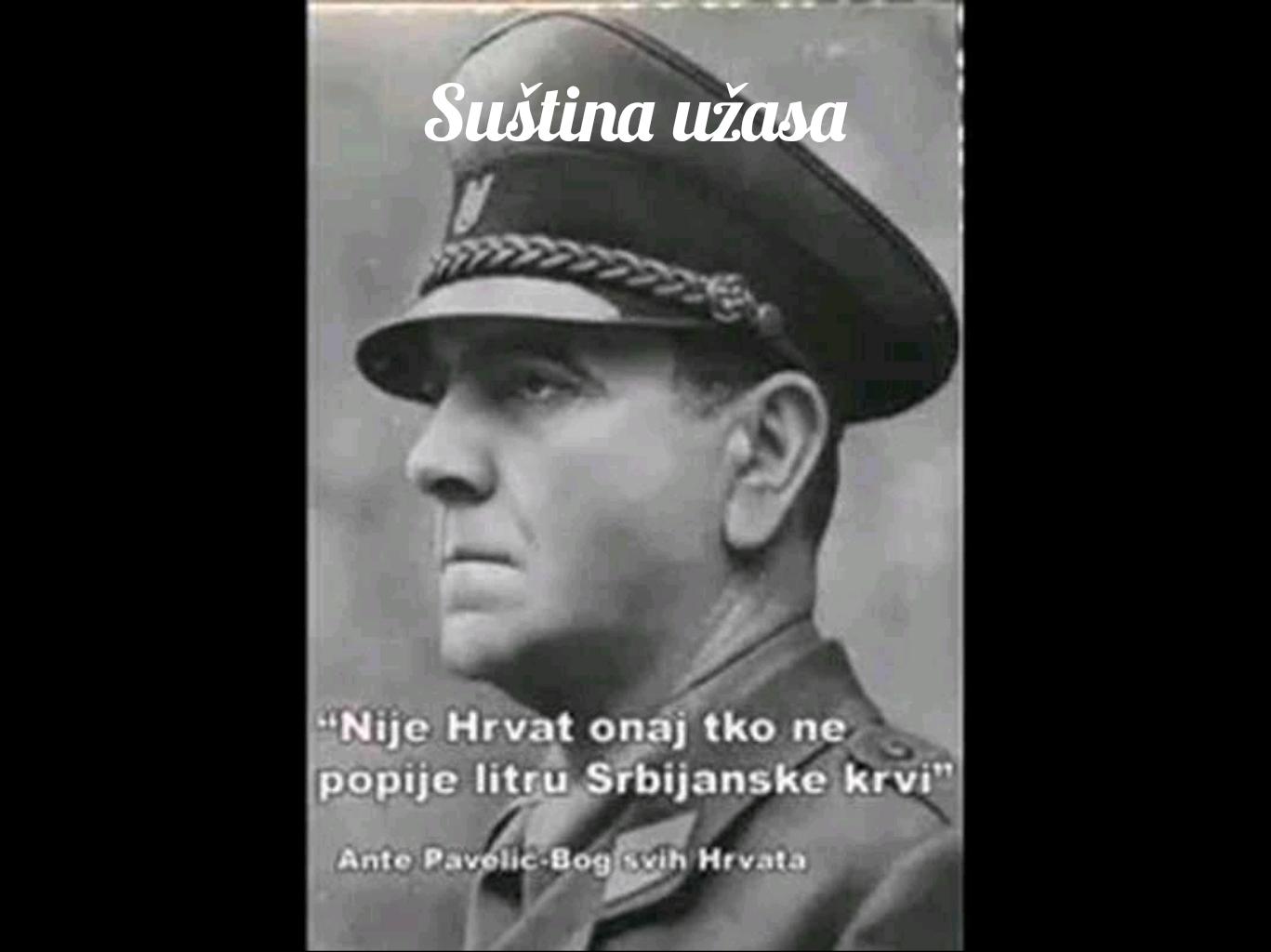 Павелић о Србима и Хрватима