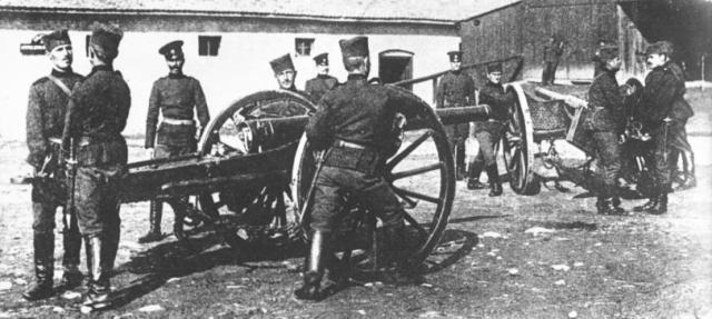 Српски артиљерци за време Првог Балканског рата 1912. године