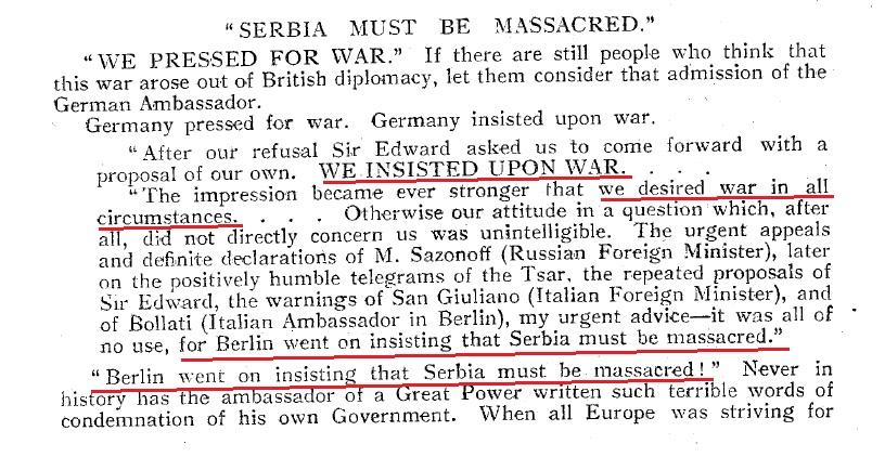 """Одлука Берлина да """"Србија мора бити масакрирана"""""""