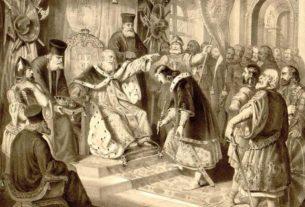Стефан Немања предаје власт свом сину Стефану Првовенчаном