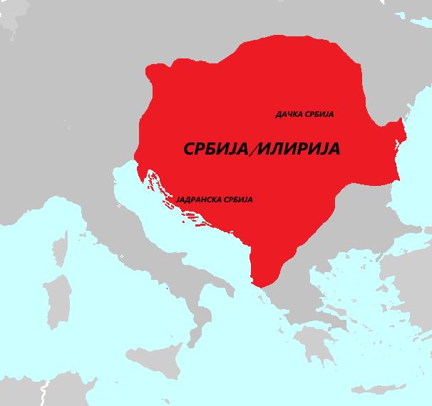 Карта Илирске Србије