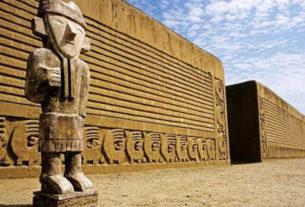 Виракоча, скулптура човека са ШАЈКАЧОМ, Јужна Америка
