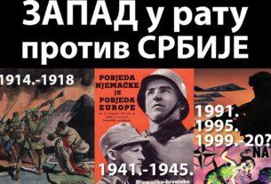 Срби, Запад нас мрзи и хоће да нас уништи!