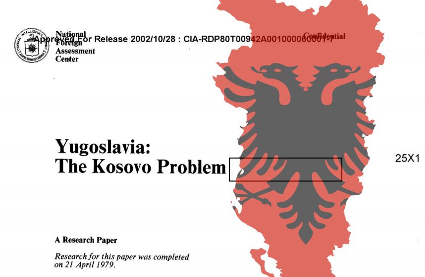 """ТАЈНА ДОКУМЕНТА ЦИА ОТКРИВАЈУ: Како су ударени темељи отцепљења Косова и стварања """"Велике Албаније"""""""